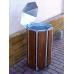 Odpadkový koš s dřevěným obložením 80 litrů