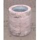 Odpadkový koš z umělého kamene