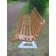 Parková lavice kov-dřevo